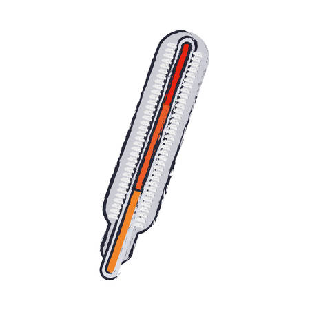 blur thermometer with temperature scale in colors vector illustration