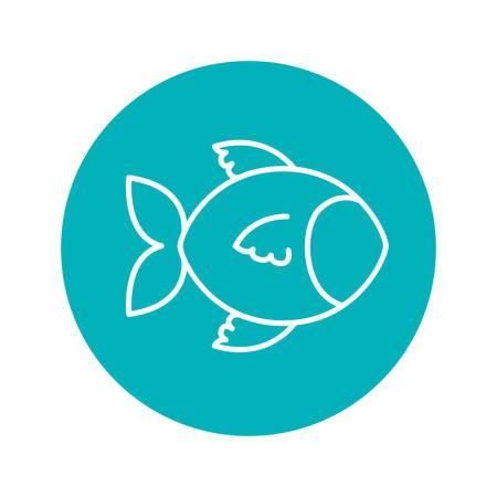 circle shape: Circle shape with fish animal illustration