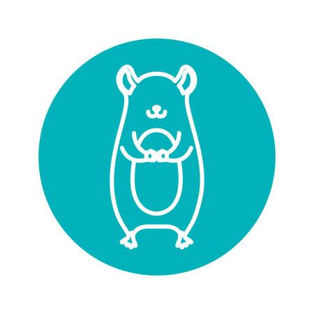 marmot: Circle shape with marmot animal illustration