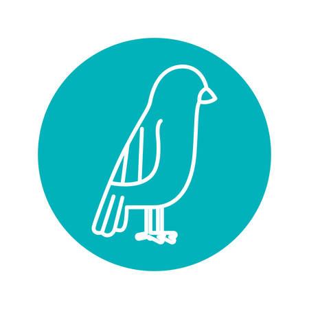 circle shape: Circle shape with bird animal illustration
