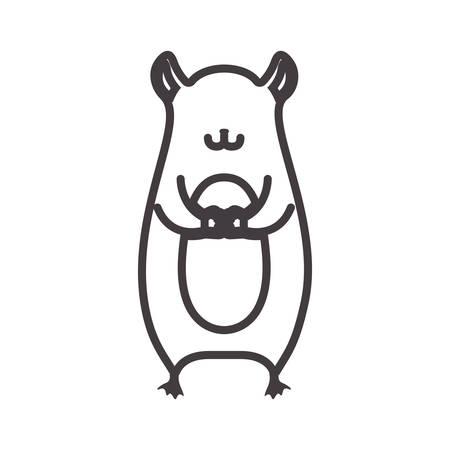 marmot: silhouette with marmot wild animal illustration Illustration