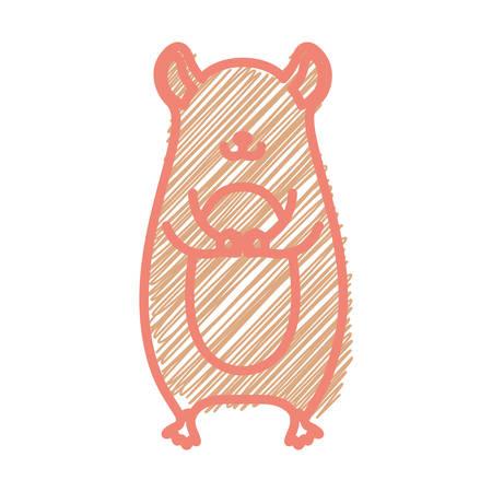 marmot: silhouette with marmot wild animal stripes illustration
