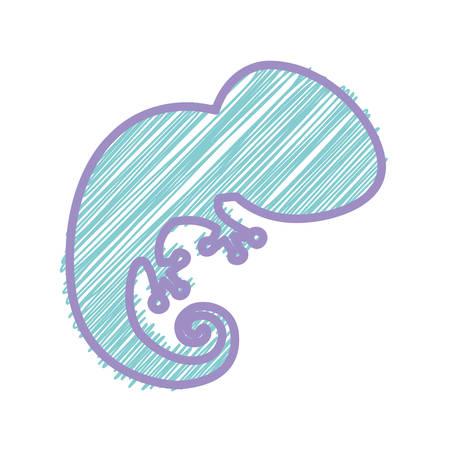 silhouette with salamander wild stripes illustration Illustration