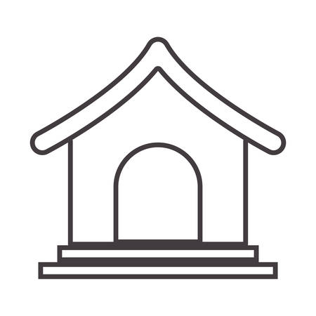 house pet: silhouette with dog house pet illustration