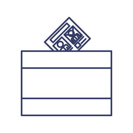 urn: silhouette with URN for voting illustration Illustration