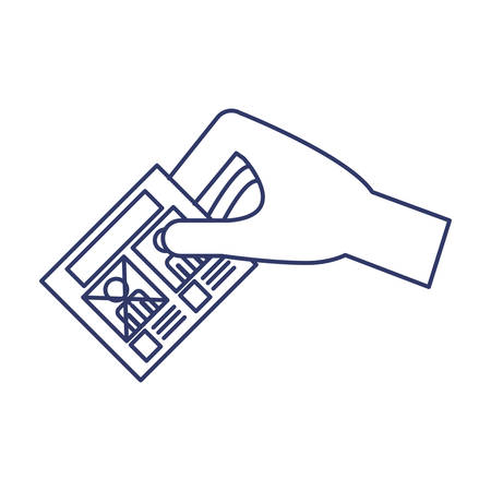 balloting: silhouette of hand by voting illustration