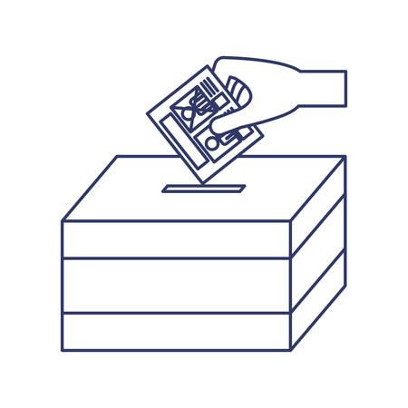 urn: silhouette with vote hand urn illustration