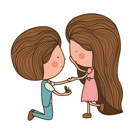 proposed: proposed marriage of man to woman illustration
