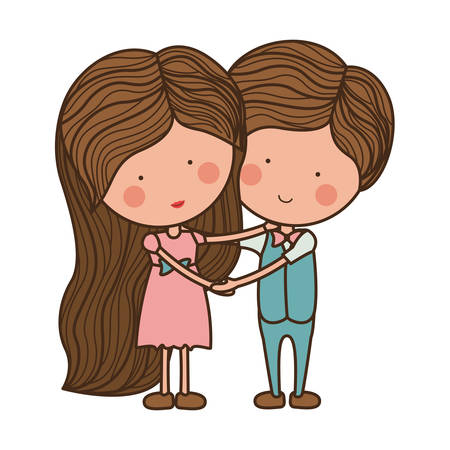 embraced: embraced couple in love with clothes illustration Illustration
