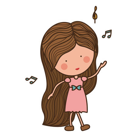 heart sounds: woman dancing with musical notes illustration