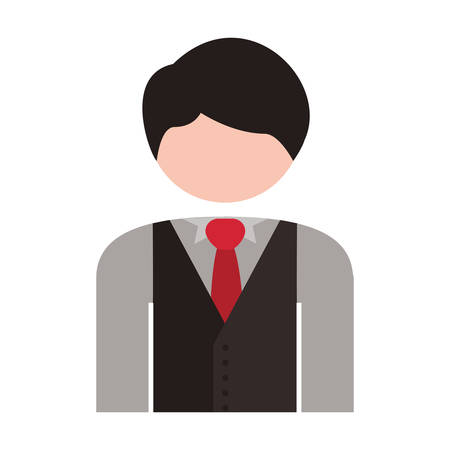half body: half body men blazer caucasian vector illustration
