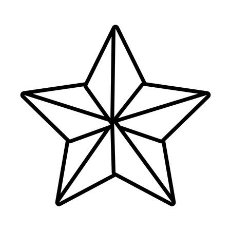 attainment: silhouette star with five points vector illustration