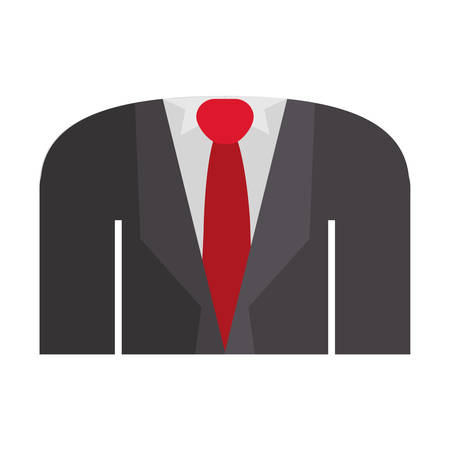 shirt and tie: blazer formal with shirt tie vector illustration