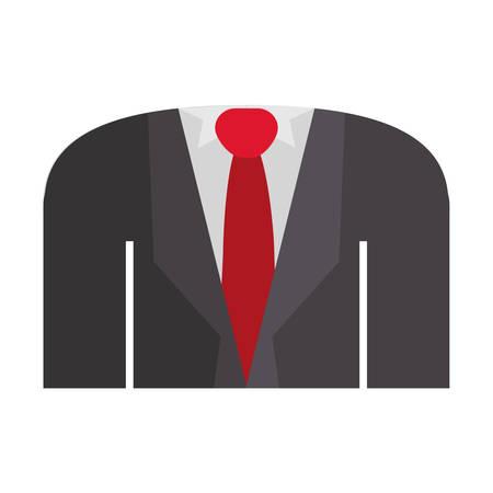 blazer: blazer formal with shirt tie vector illustration