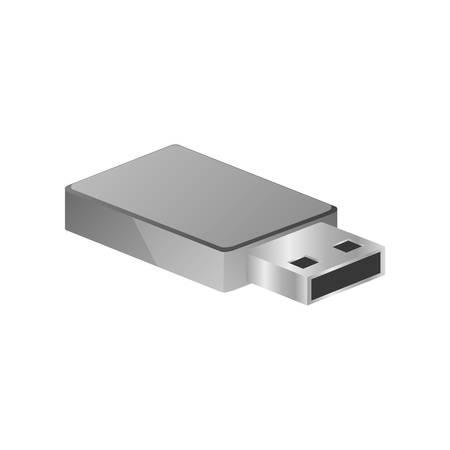 pen drive: tech small pen drive device vector illustration