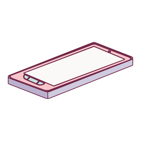 lying down: tech touch tablet camera with buttons lying down minimalist vector illustration
