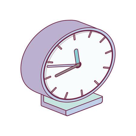 right side: alarm clock minimalist right side vector illustration