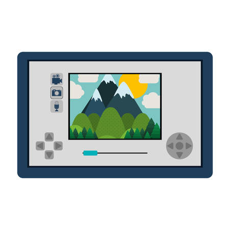 touch screen: touch screen for drone camera vector illustration