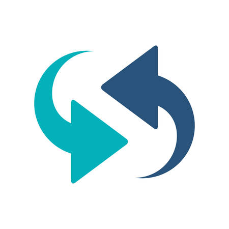 opposite arrows: blue arrows in opposite directions vector illustration
