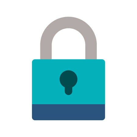 shackle: padlock with blue body and shackle vector illustration Illustration