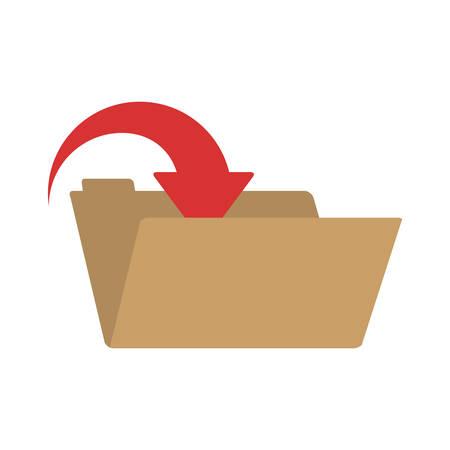 red arrow: folder with red arrow inside vector illustration Illustration