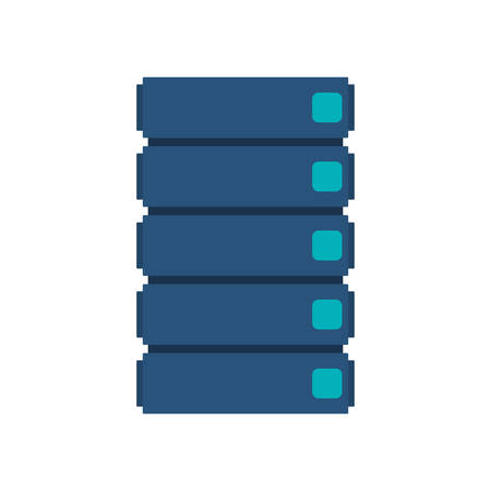 record office: blue filing cabinet with five floor vector illustration
