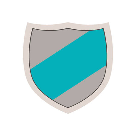hallmark: emblem with blue line in center vector illustration