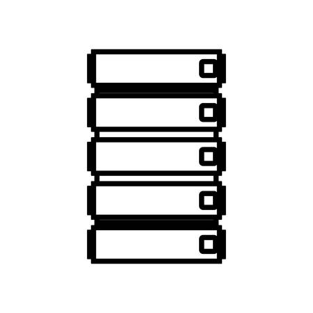 file cabinet: silhouette file cabinet with five floor vector illustration