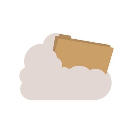 cumulus cloud: folder into the cumulus cloud vector illustration