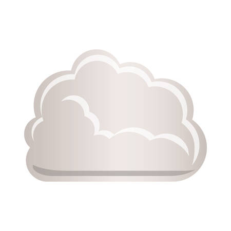 tridimensional: cloud tridimensional in cumulus shape vector illustration