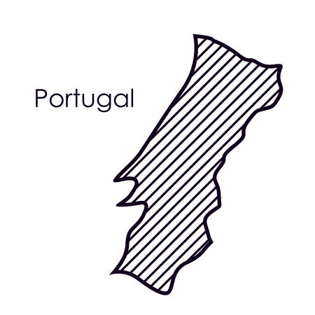 international crisis: Portugal map icon. Europe nation and government theme. Isolated design. Vector illustration