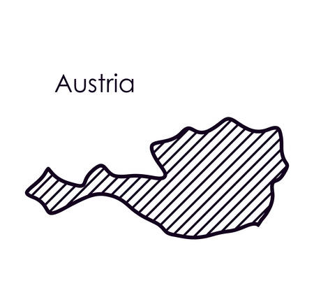 international crisis: austria map icon. Europe nation and government theme. Isolated design. Vector illustration