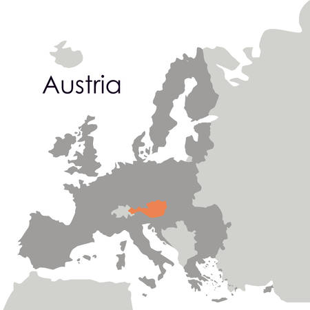austria map: Austria map icon. Europe nation and government theme. Isolated design. Vector illustration Illustration