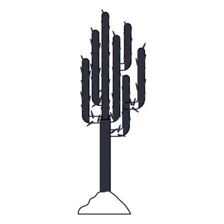 arid: Cactus icon. Plant desert nature and decoration theme. Isolated design. Vector illustration