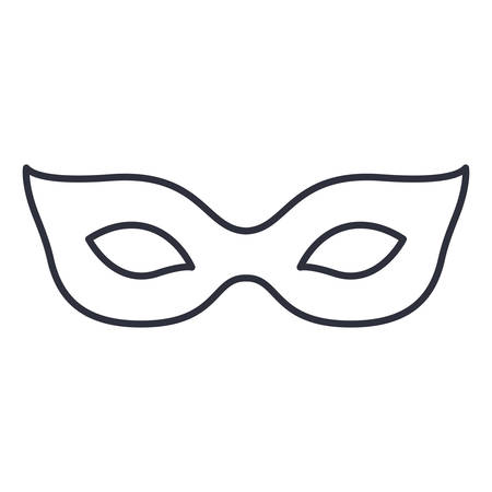 design costume: Mask icon. Masquerade carnival costume and party theme. Isolated design. Vector illustration