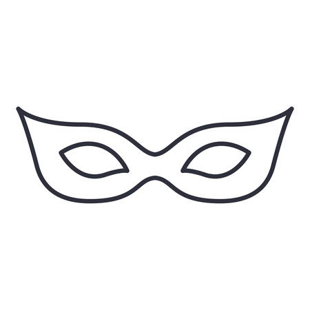 carnival costume: Mask icon. Masquerade carnival costume and party theme. Isolated design. Vector illustration