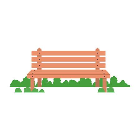 ベンチ木製椅子快適な公園席装飾ベクトル図  イラスト・ベクター素材