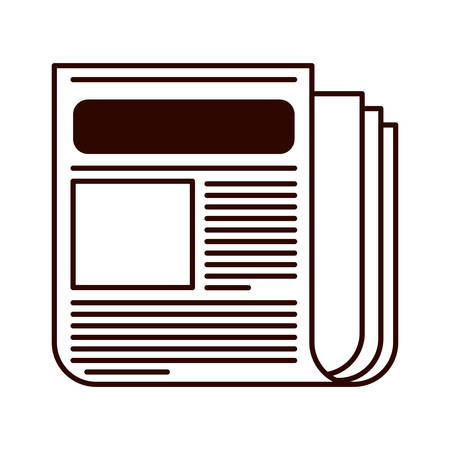 published: Newspaper published media document icon. vector illustration