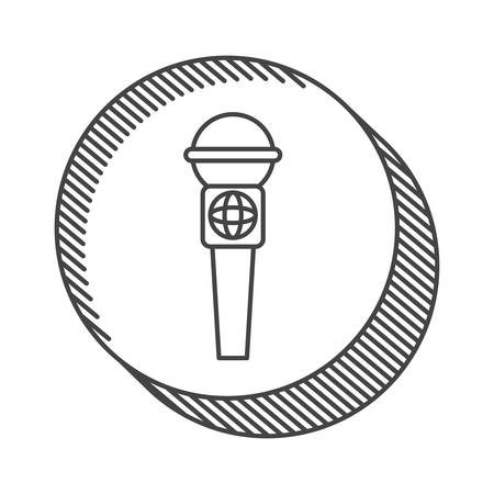 amplify: news microphone communication device. vector illustration