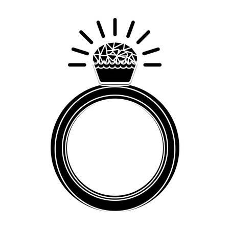 bijouterie: diamond ring luxury jewelry accessory. vector illustration