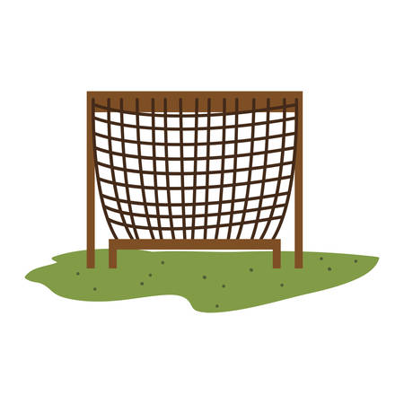 attraction: kids playground net entertainment attraction  over white background. vector illustration