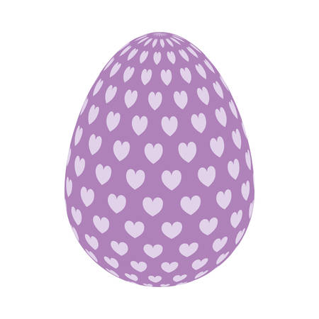 happy easter colorful egg over white background. vector illustration Illustration