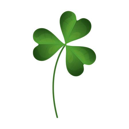 four fourleaf: green clover plant icon over white background. vector illustration Illustration
