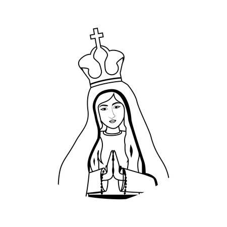 nativety: virgin mary. christianity design over white background. vector illustration