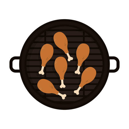 thighs: food grilled with chicken thighs vector illustration