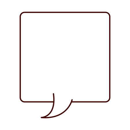 parley: silhouette rectangle callout for dialogue vector illustration
