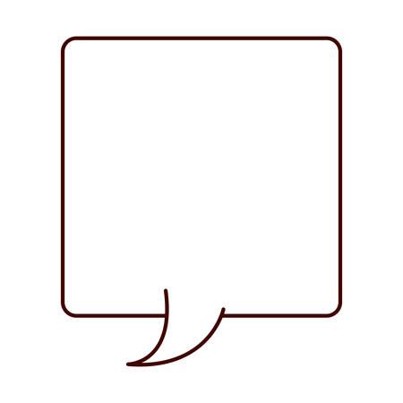 callout: silhouette rectangle callout for dialogue vector illustration