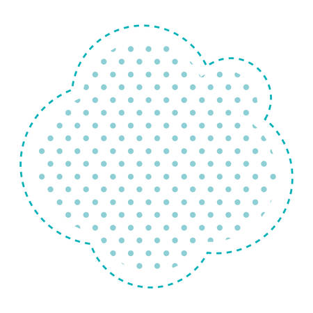callout: Dotted silhouette cloud callout of thought vector illustration
