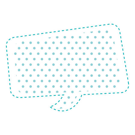 parley: Dotted silhouette rounded rectangle callout vector illustration