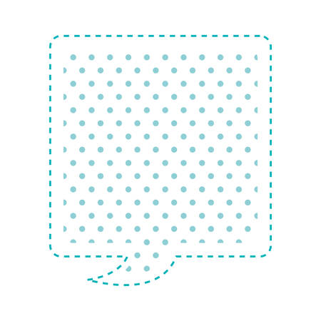 callout: Dotted silhouette rectangle callout for dialogue vector illustration